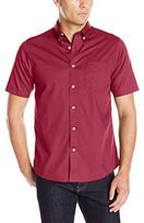 Dockers Short Sleeve Solid Cvc Woven Shirt