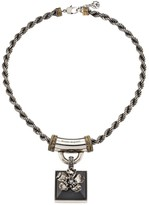 Alexander McQueen Crystal Flower Pendant Rope Necklace