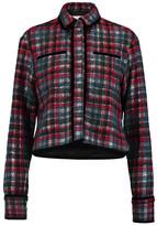 MSGM Velvet-Trimmed Wool-Blend Jacquard Jacket