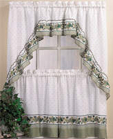 "CHF Cottage Ivy 36"" Window Tier & Swag Valance Set Bedding"