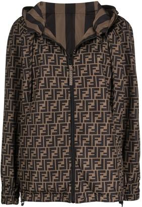 Fendi Reversible Multi-Print Hooded Jacket
