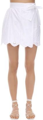 SIR the Label Delilah Wrap Cotton Poplin Mini Skirt