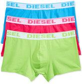 Diesel Men's Fresh & Bright Cotton Stretch Shawn Trunks 3-Pack