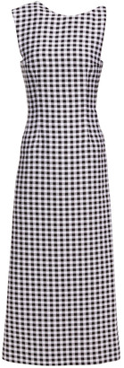 Emilia Wickstead Ceilani Open-back Gingham Cloque Midi Dress