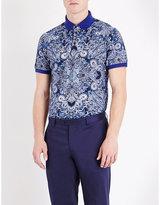 Etro Paisley Cotton-piqué Polo Shirt