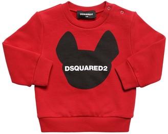 DSQUARED2 Ciro Logo Printed Cotton Sweatshirt