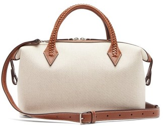 Métier Metier - Perriand City Small Braided-handle Linen Bag - Tan Multi