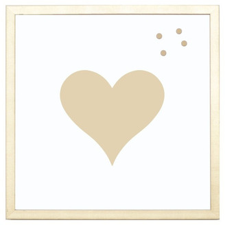 """Petal Lane """"Heart"""" Magnet Board With Gold Frame, 24""""x24"""""""