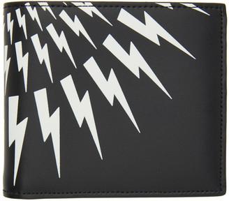 Neil Barrett Black Lightning Bolt Bifold Wallet