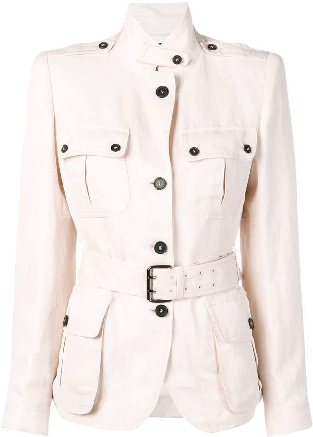 Tom Ford belted single-breasted jacket
