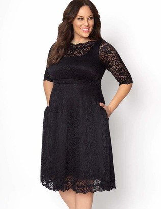 Kiyonna Lacey Cocktail Dress in Black Size 2X
