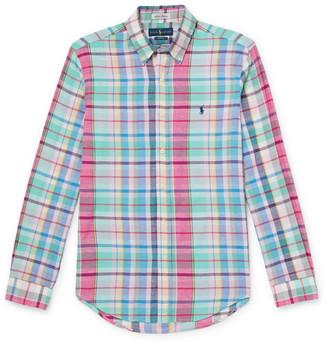Polo Ralph Lauren Slim-Fit Button-Down Collar Checked Cotton Shirt