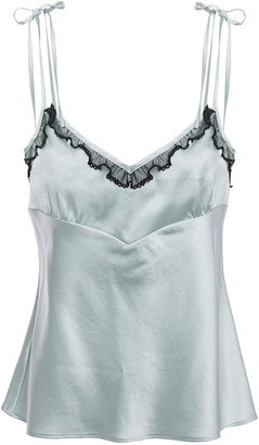 ALEXACHUNG Tulle-trimmed Satin Camisole