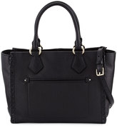 Cole Haan Addey Whipstitched Leather Satchel Bag, Black