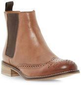 Dune London Quentin Brogue Leather Chelsea Booties