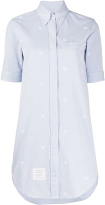 Thom Browne Wheel Embroidery Shirt Dress