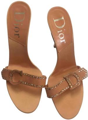Christian Dior Pink Cloth Mules & Clogs
