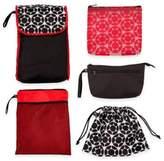 J L Childress 5-in-1 Diaper Bag Organizer in Black/Red Floral