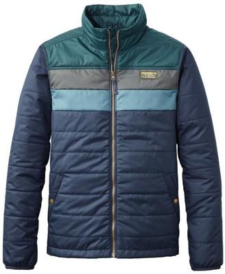 L.L. Bean Men's Mountain Classic Puffer Jacket, Colorblock