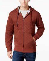 Weatherproof Vintage Men's Big and Tall Zip-Up Quilted Hoodie, Classic Fit