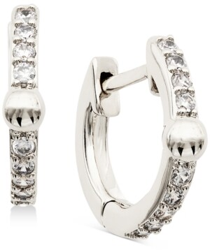 AVA NADRI Extra-Small Cubic Zirconia & Bead Huggie Hoop Earrings, 0.37""