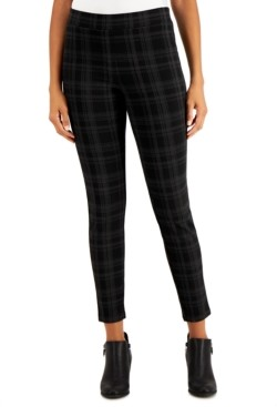Style&Co. Style & Co Flocked Plaid Pull-On Pants, Created for Macy's