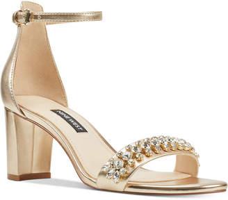 Nine West Perla Block-Heel Sandals Women Shoes