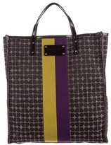 Kate Spade Leather-Trimmed Jacquard Tote