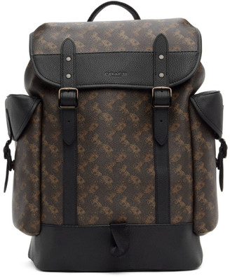Coach 1941 Brown and Black Horse and Carriage Hitch Backpack