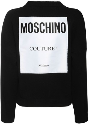 Moschino Cashmere & Wool Knit Sweater W/ Label