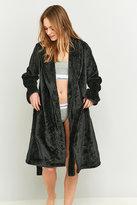 Calvin Klein Black Fluffy Dressing Gown