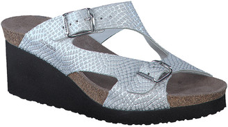 Mephisto Terie Leather Wedge Sandal