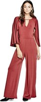 GUESS Women's Micah Petite Wide-Leg Cape Jumpsuit