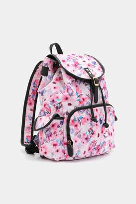Ardene Floral Fabric Backpack