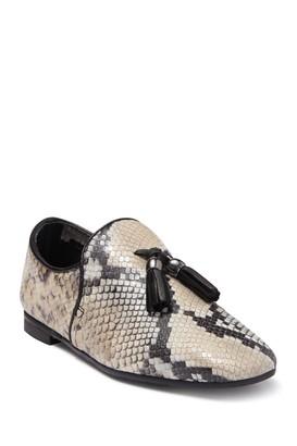 Aquatalia Rivita Snake Print Leather Loafer