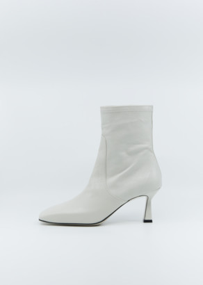 Low Classic Mid-Heel Leather Stiletto Boots