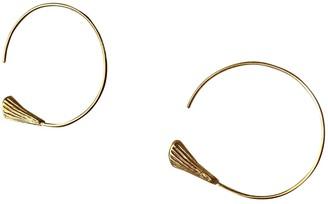 Celine Alphabet Gold Metal Earrings
