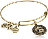 "Alex and Ani Sorority"" Delta Gamma Expandable Rafaelian Gold-Tone Wire Bangle Bracelet, 2.6"""
