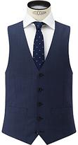 John Lewis Super 100s Wool Birdseye Tailored Waistcoat, Airforce