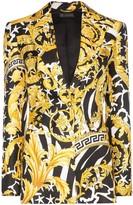 Versace Baroque-print single-breasted blazer