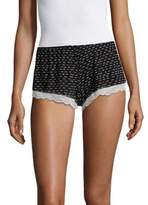 Eberjey Printed Lace Cuff Shorts