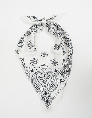 ASOS DESIGN paisley print sateen scarf