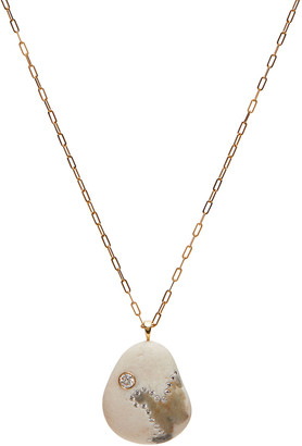 Cvc Stones 18k Gold Pear Abstract Necklace - One of a Kind, 30""