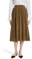 Robert Rodriguez Women's Pleated Silk Skirt