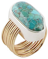 Barse Sterling Silver, Bronze & Turquoise Statement Ring