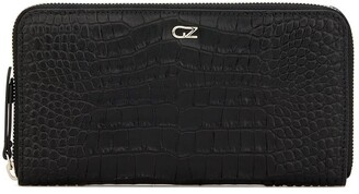 Giuseppe Zanotti Embossed Croc-Effect Zipped Wallet