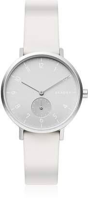 Skagen Aaren Kulor White Silicone 36mm Watch