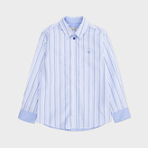 Paul Smith Boys' 7+ Years Striped PS Logo Shirt With 'Ant' Print Cuffs