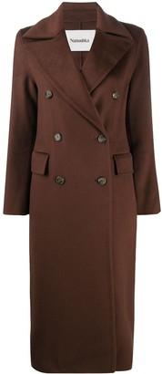 Nanushka Double-Breasted Wool Coat