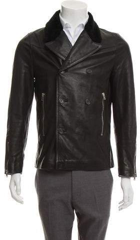 27038888668 The Kooples Black Men's Leather & Suede Coats - ShopStyle
